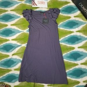 Cynthia Rowely tshirt dress cap sleeves size Large